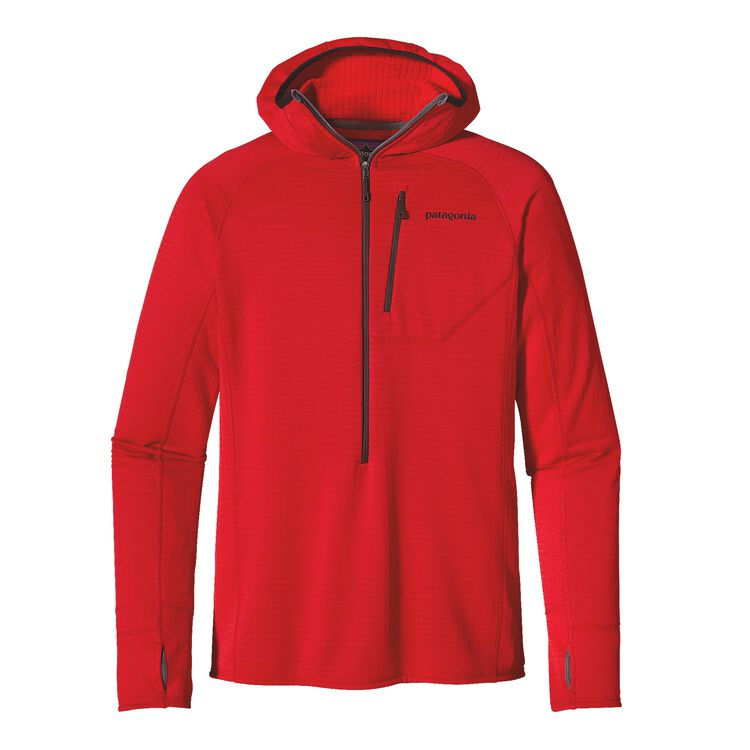 M'S R1 HOODY, French Red (FRR)