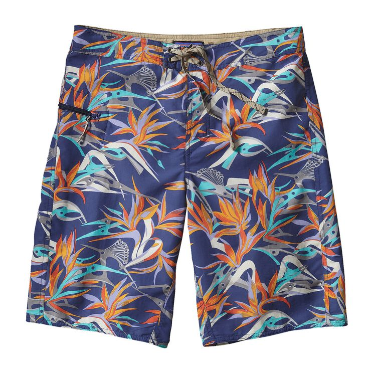 M'S PRINTED WAVEFARER BOARD SHORTS - 21, Piton Paradise: Channel Blue (PPCB)