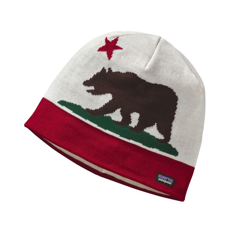 BEANIE HAT, California Bear: Wax Red (CBWR)