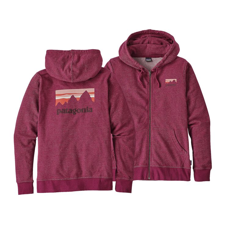 W'S SHOP STICKER LW FULL-ZIP HOODY, Magenta (MAG)