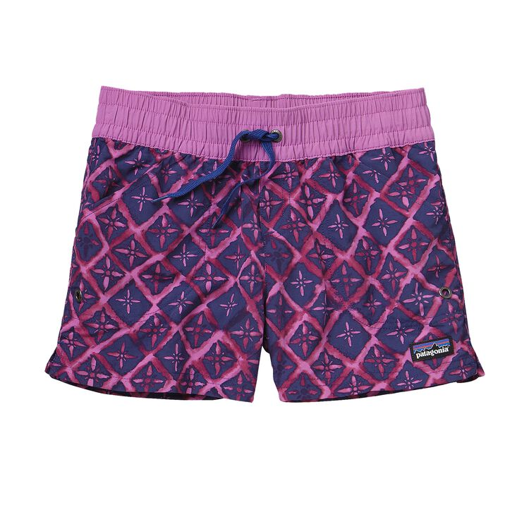 GIRLS' COSTA RICA BAGGIES SHORTS, Talavera Tiles: Mock Purple (TVMP)