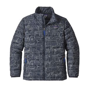 Boys' Down Sweater Jacket, Tippy Canoe: Smolder Blue (TPSB)