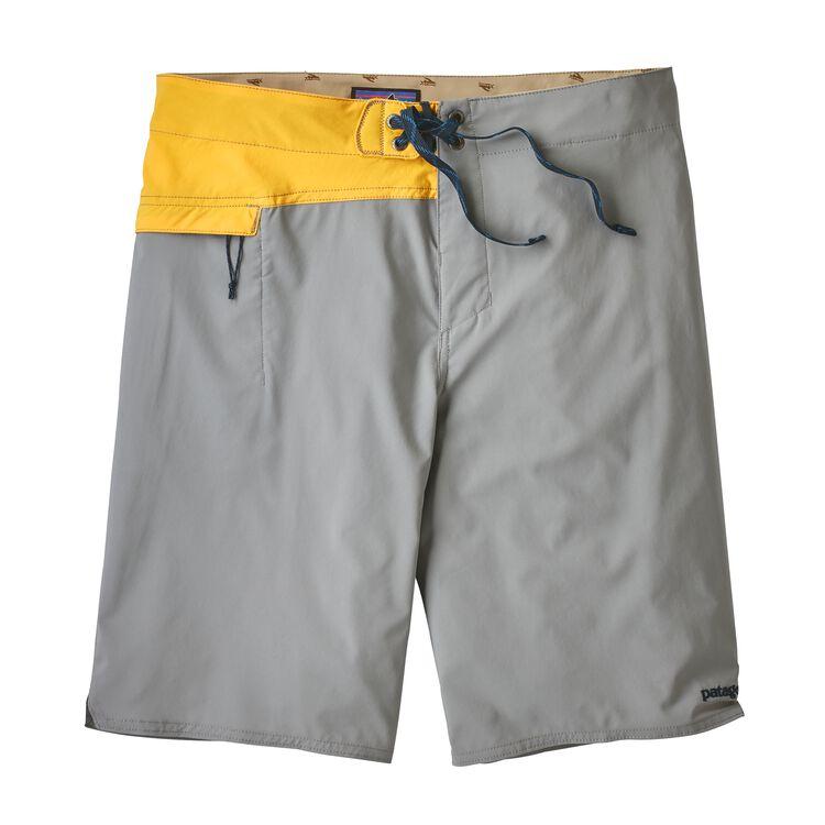 メンズ・ストレッチ・ハイドロ・プレーニング・ボードショーツ, Feather Grey w/Rugby Yellow (FGRY)