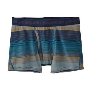 メンズ・キャプリーン・デイリー・ボクサー・ブリーフ, Blanket Stripe: Filter Blue (BFLT)