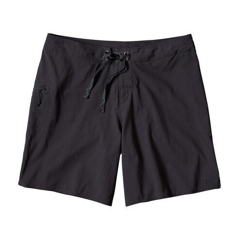 ウィメンズ・ストレッチ・プレーニング・ボード・ショーツ(20cm), Black (BLK)