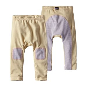 Baby Cozy Cotton Pants, Cove Stripe: Feather Pink (CVFP)