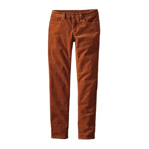 W's Fitted Corduroy Pants, Saddle (SDL)