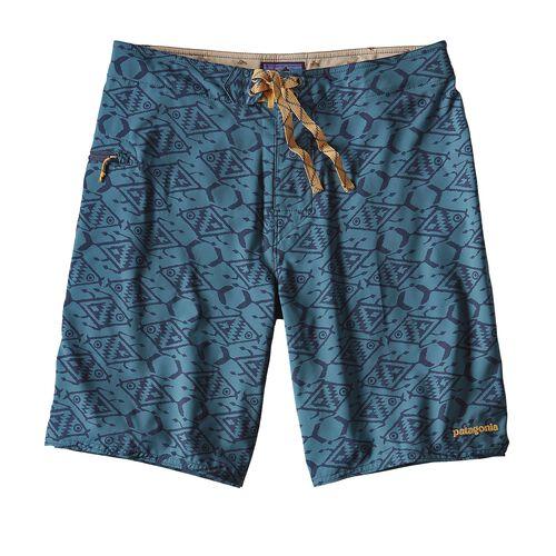 メンズ・ストレッチ・プレーニング・ボード・ショーツ(51cm), Ikat Fish Small: Bay Blue (IFBY)
