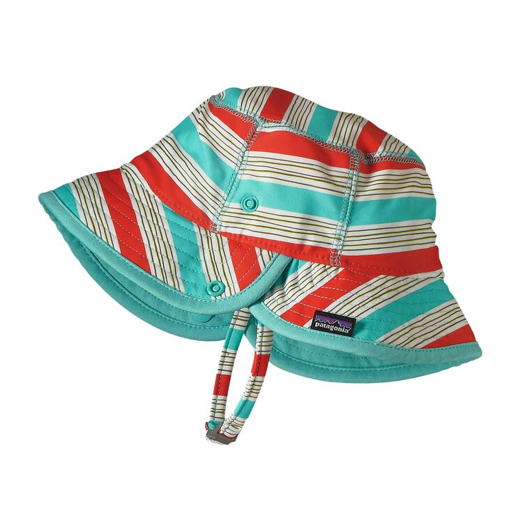 BABY LITTLE SOL HAT, Baby Waterfront Stripe: Cusco Orange (BWCO)