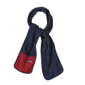 Synchilla® Scarf, Navy Blue w/Classic Red (NVCR)