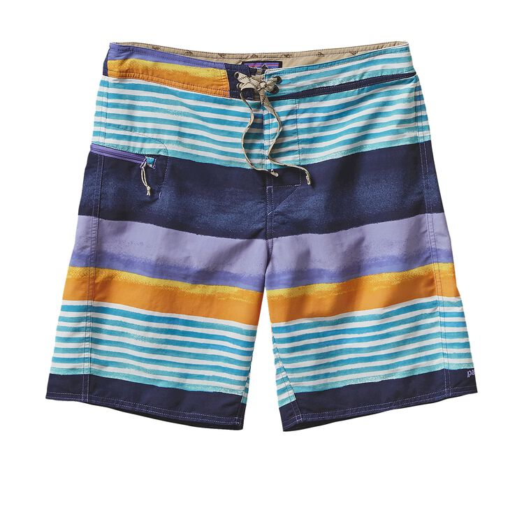 M'S PRINTED WAVEFARER BOARD SHORTS - 19, Painted Fitz Stripe: Navy Blue (PZNV)
