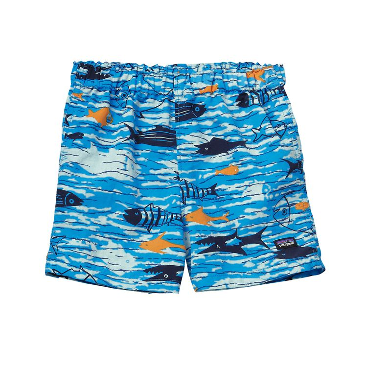 BABY BAGGIES SHORTS, Fishy Fun: Electron Blue (FYEB)