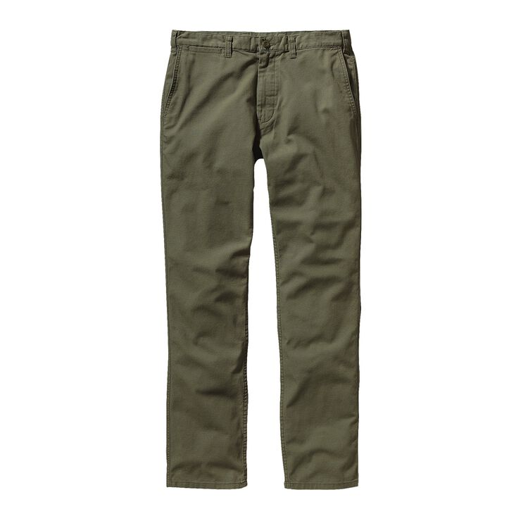 M'S STRAIGHT FIT DUCK PANTS - SHORT, Fatigue Green (FTGN)