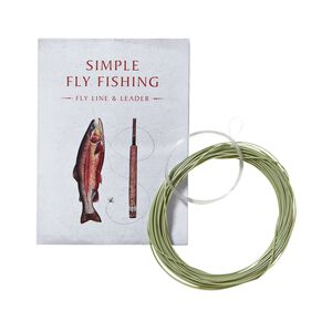 "Simple Fly Fishing Fly Line and Leader 15' for 8' 6"" Rod, Multi-Color (ZOO)"