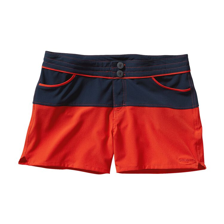 W'S COLORBLOCK MERIDIAN SHORTS, Turkish Red (THR)