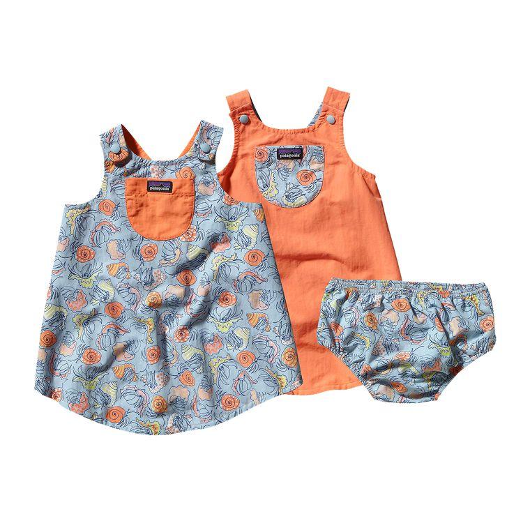BABY REVERSIBLE BAGGIES JUMPER, Crab Friends: Peach Sherbet (CPES)