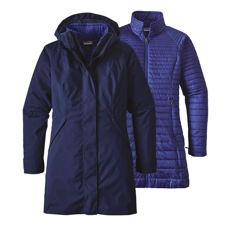 W'S VOSQUE 3-IN-1 PARKA, Navy Blue (NVYB)