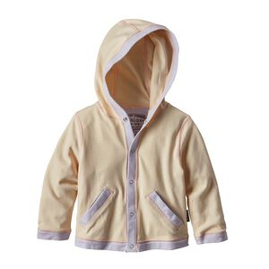 Baby Cozy Organic Cotton Hoody, Cove Stripe: Feather Pink (CVFP)