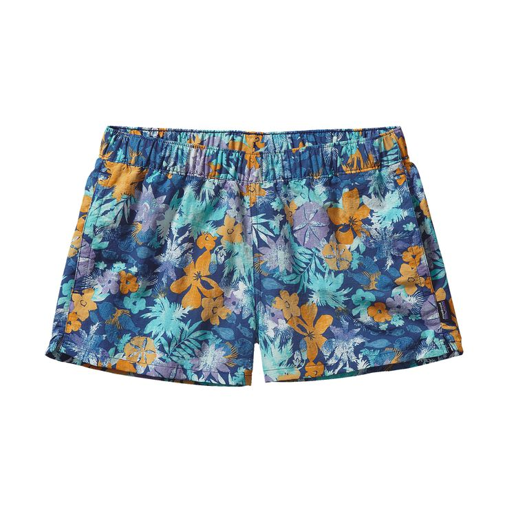 W'S BARELY BAGGIES SHORTS, Neo Tropics: Channel Blue (NOCB)