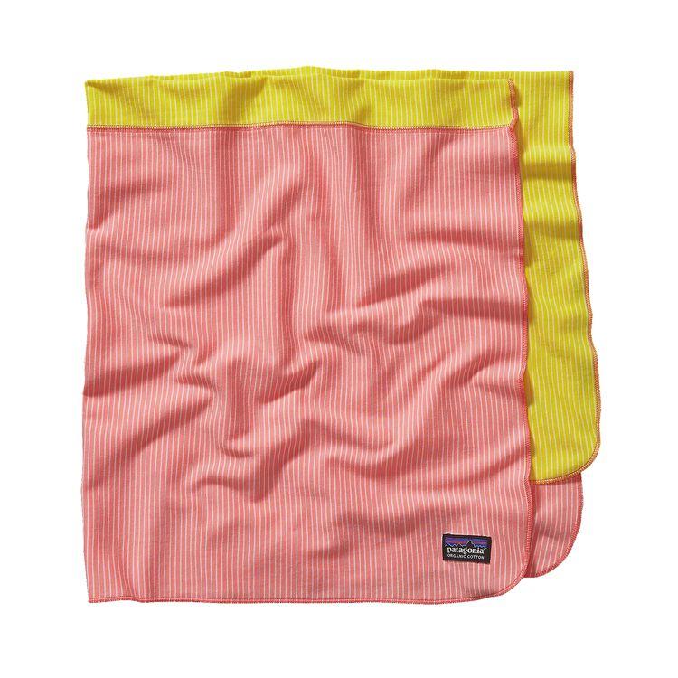 BABY COZY COTTON BLANKET, Itsy Bitsy Stripe: Pickled Pink (ISPP)