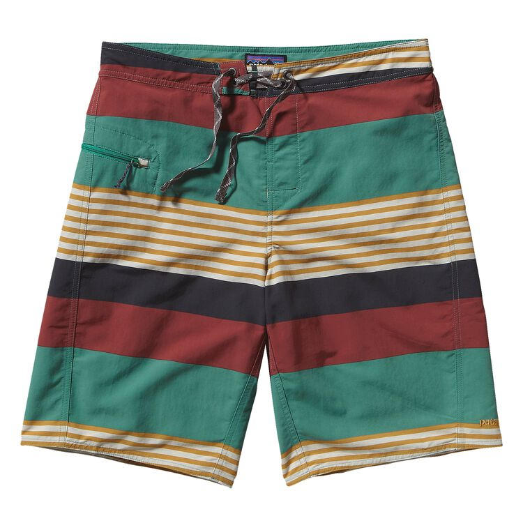 M'S WAVEFARER ENGINEERED BOARD SHORTS -, Fitz Stripe: Beryl Green (FZBY)