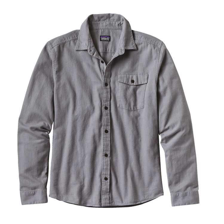 M'S L/S LW FJORD FLANNEL SHIRT, Whole Weave: Feather Grey (WWFE)