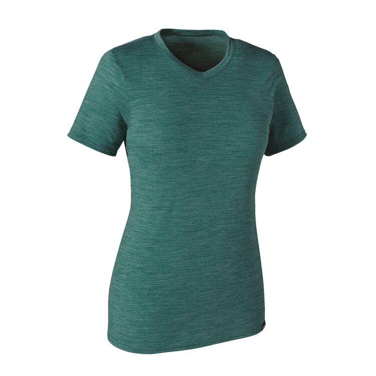 ウィメンズ・メリノ・デイリー・Vネック・Tシャツ, Arbor Green (ABRG)