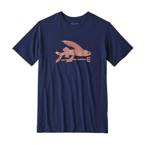 BOYS' FLYING FISH ORGANIC T-SHIRT, Classic Navy (CNY)