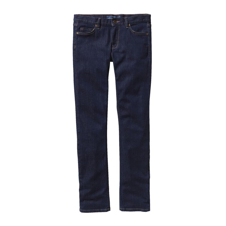 W'S STRAIGHT JEANS - SHORT, Dark Denim (DDNM)