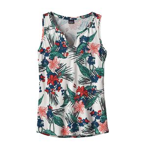 W's Shallow Seas Tank Top, Kelp Garden: Birch White (KPBW)