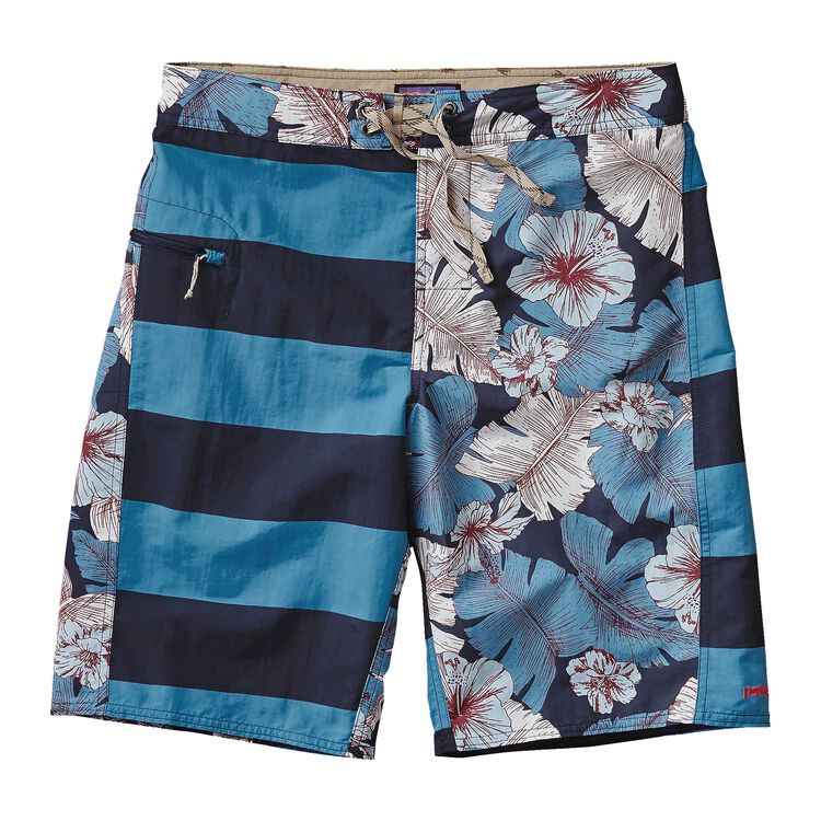 M'S PRINTED WAVEFARER BOARD SHORTS - 21, Harlequin: Best Fronds Navy Blue (HBFV)