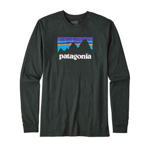 M's Long-Sleeved Shop Sticker Cotton T-Shirt, Carbon (CAN)