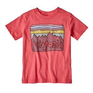 Baby Fitz Roy Skies Organic Cotton T-Shirt, Sierra Pink (SRAP)