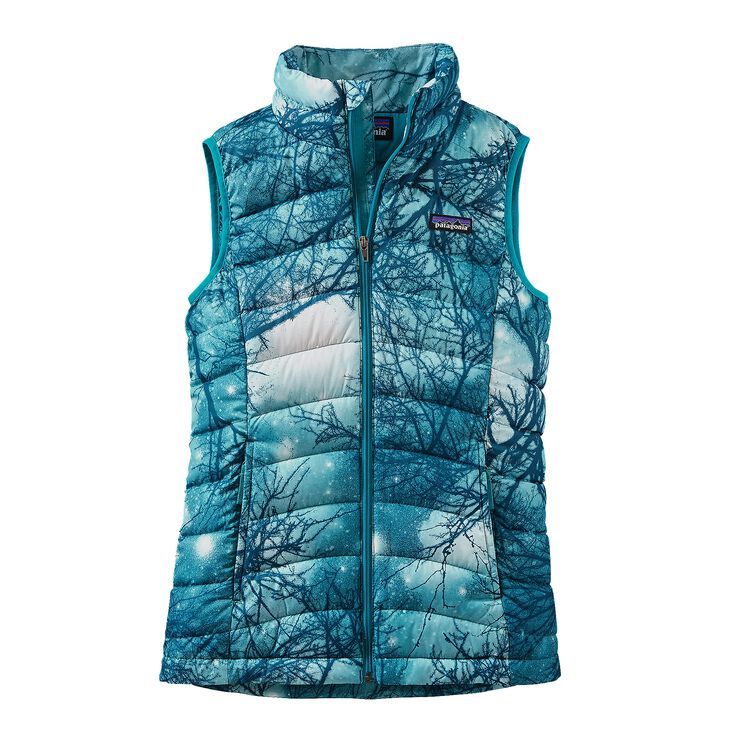 GIRLS' DOWN SWEATER VEST, Moontree: Deep Sea Blue (MDSB)