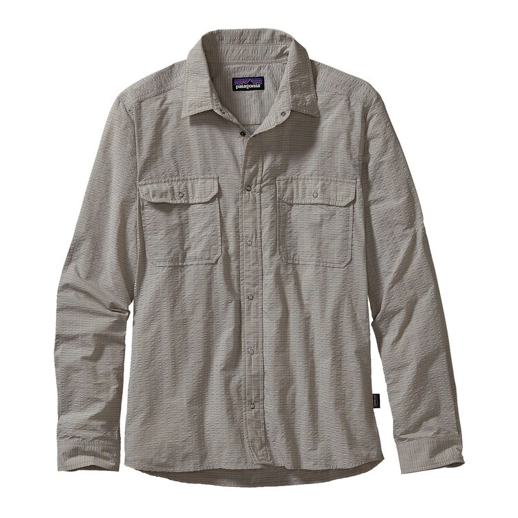 M'S L/S EL RAY SHIRT, Owens: Tailored Grey (OTLG)