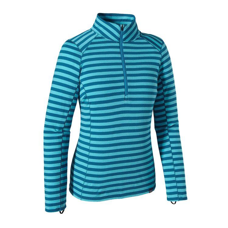 W'S MERINO TW ZIP NECK, Pearson Stripe: Ultramarine/ Underwater Blue (PSUB)