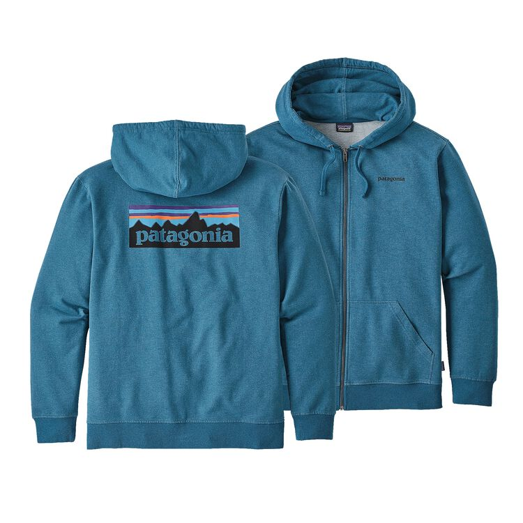 M'S P-6 LOGO MW FULL-ZIP HOODY, Big Sur Blue (BSRB)