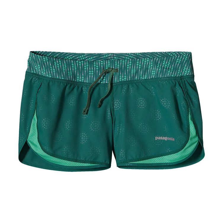 W'S STRIDER SHORTS, Droplets: Arbor Green (DPAG)