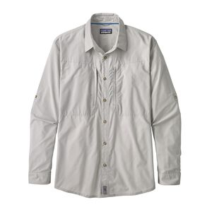 M's Long-Sleeved Sun Stretch Shirt, Whole Weave: Tailored Grey (WWTA)