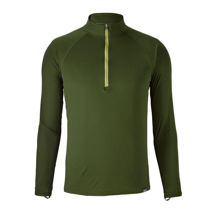 M'S CAP LW ZIP NECK, Glades Green (GLDG)