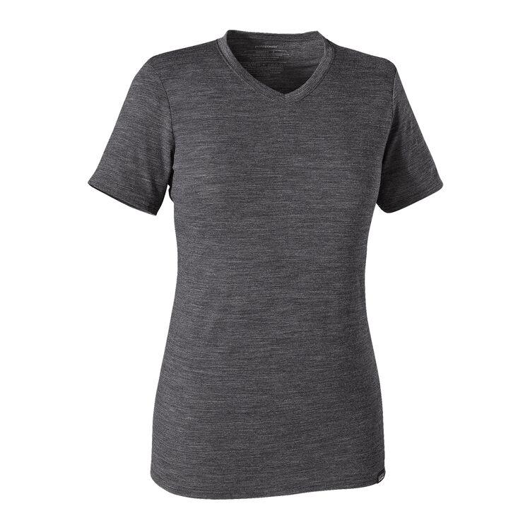 W'S MERINO DAILY V-NECK T-SHIRT, Black (BLK)