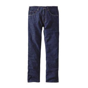 M's Flannel Lined Straight Fit All-Wear Jeans - Long, Dark Denim (DDNM)