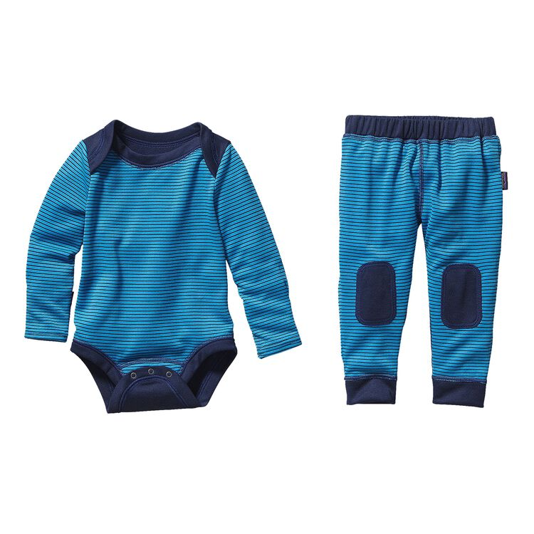 BABY CAP 3 MW SET, Pico Stripe: Electron Blue/Channel Blue (PEBD)