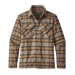 M's Insulated Fjord Flannel Jacket, Migration Plaid: Mojave Khaki (MMJV)