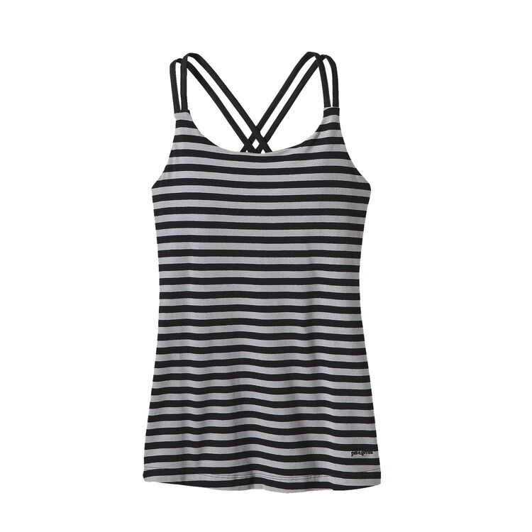 W'S CROSS BACK TANK, Vista Stripe: Drifter Grey (VDFG)