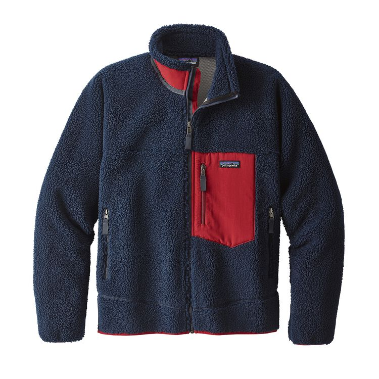 メンズ・クラシック・レトロX・ジャケット, Navy Blue w/Classic Red (NVCR)
