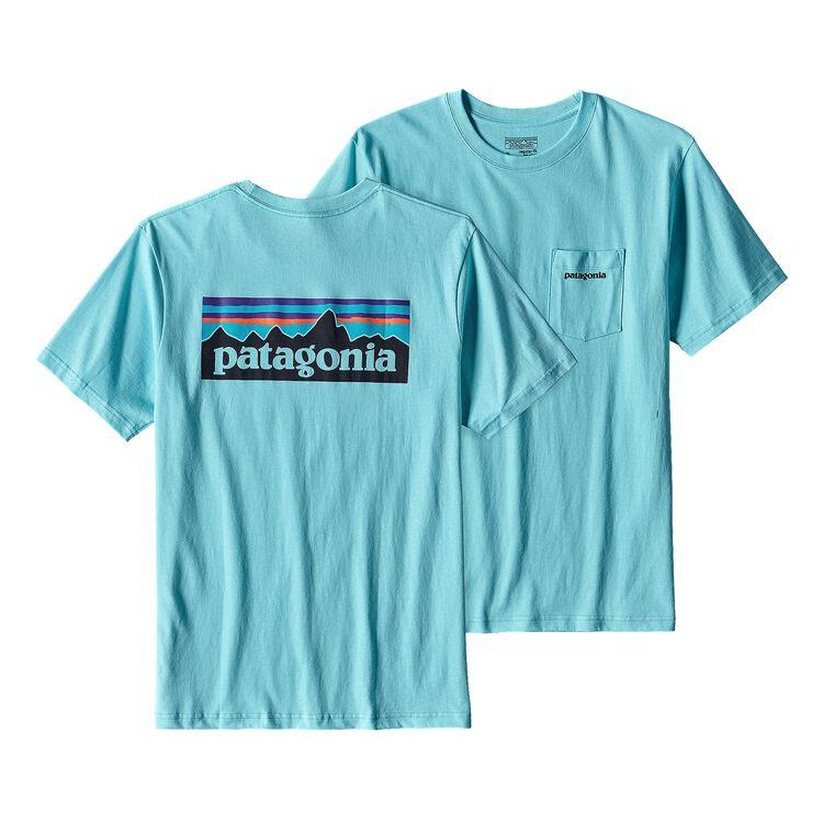 メンズ・P-6ロゴ・コットン・ポケット・Tシャツ, Cuban Blue (CUBB)