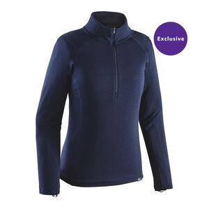 W's Merino Thermal Weight Zip-Neck, Navy Blue (NVYB)
