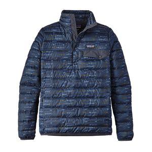 W's Down Snap-T® Pullover, Elwha Ikat Small: Smolder Blue (EWSB)