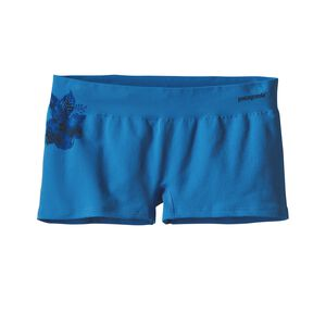 W's Active Mesh Boy Shorts, Dropdot Graphic: Radar Blue (DTRB)